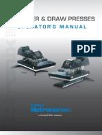 Hotronix Draw Press Operators Manual