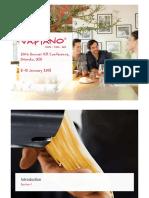 VAO Vapiano 2018 01 05 ICR Conference