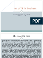 Evolution of It in Business(Victor Jade Ricofel)
