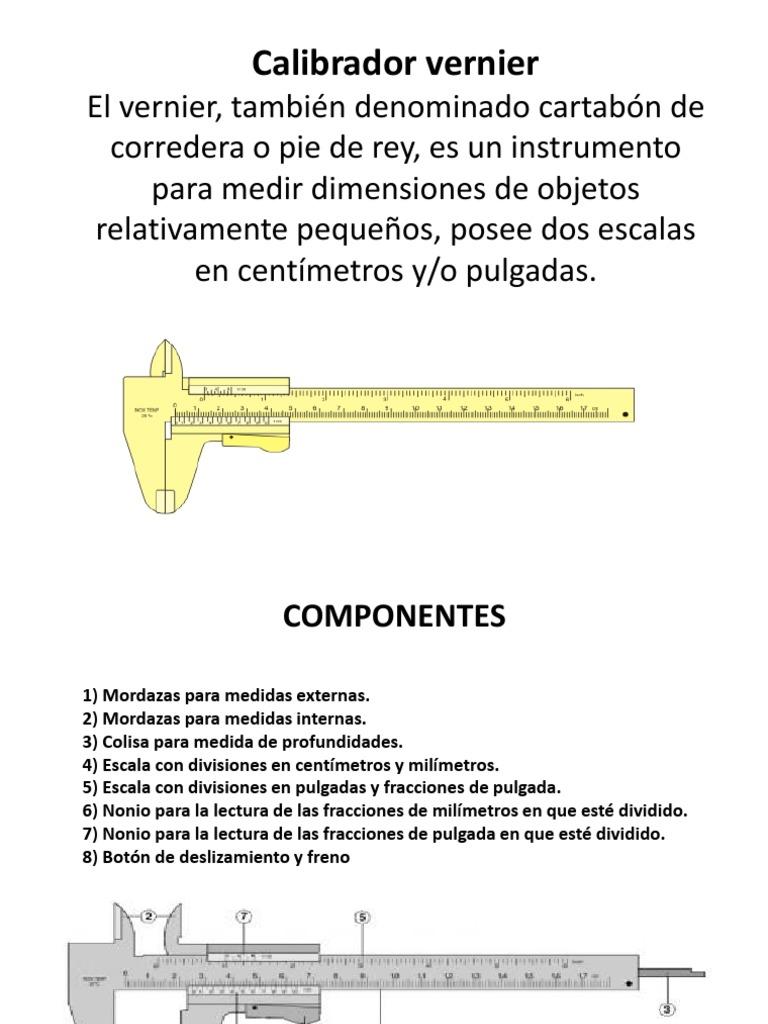 Calibrador Vernier Instrumento De Medicion Longitud