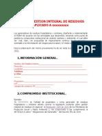 Elaboracion Plan de Gestion de Residuos