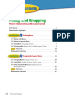 Connected Mathematics 2 - Filling and Wrapping--Three-Dimensional Measurement