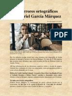 Los errores ortográficos de Gabriel García Márquez