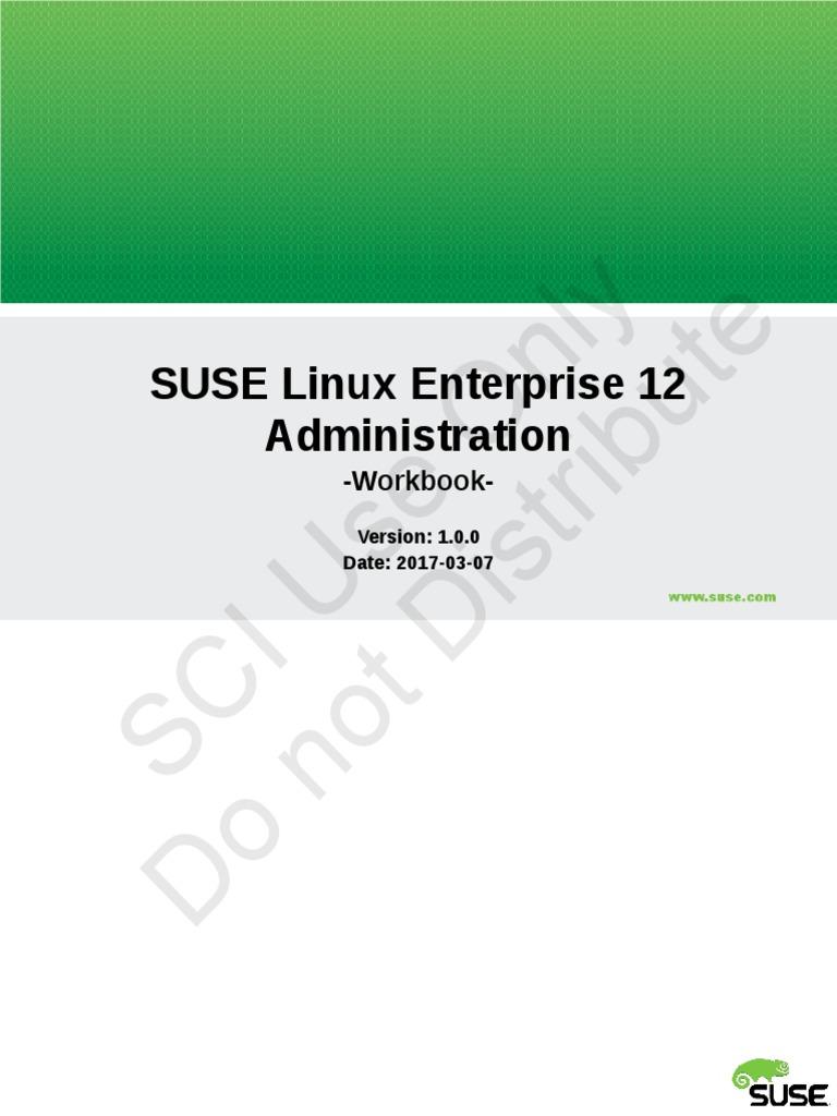 SCI-LAB MANUAL-SLE201-SUSE Linux Enterprise Administration-V1 0 0 (1