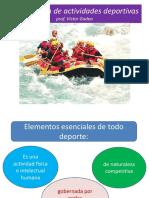 Clasificación de Actividades Deportivas-Portal