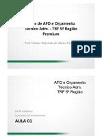 Dicas de Afo e Orcamento Tecnico Adm Trf 5 Ordf Regiao 01