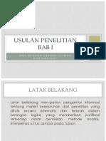 USULAN PENELITIAN (riset)