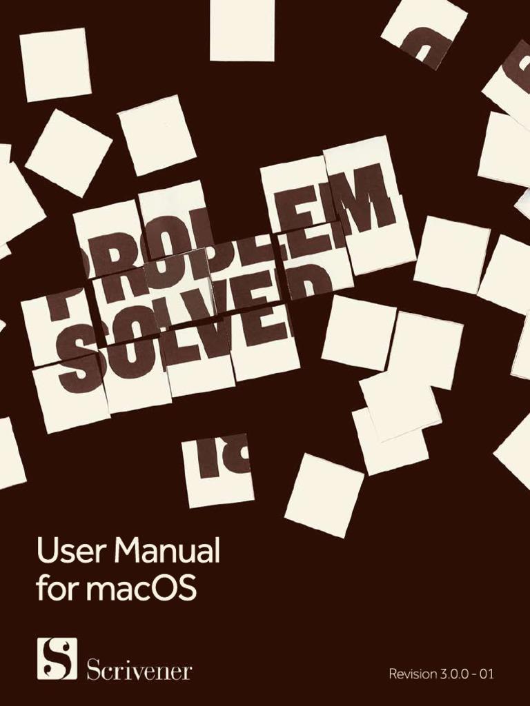 Scrivener Manual Mac   Finder (Software)   Installation