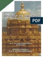 history of Tirumala