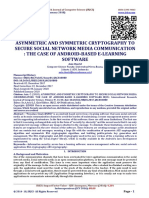 ASYMMETRIC AND SYMMETRIC CRYPTOGRAPHY TO SECURE SOCIAL NETWORK MEDIA COMMUNICATION