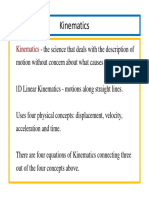 Topic 05 One Dimensional Kinematics Notes