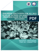Philippine Education for All 2015 Assessment