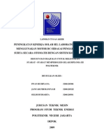 SOLAR SEL Berbasis Mikrokontroller, inverter dc to ac