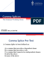 Comma Splices BI Revision