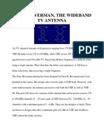 Gray Hoverman the Wideband TV Antenna