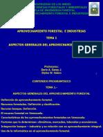 Presentación Aprovechamiento Forestal.- Tema 1.