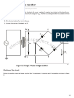 Electronicsproject.org Single Phase Bridge Rectifier