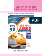 Disha Publication Jee-main Online-10-April 2016 Solved-paper. V526057697