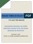 """Analisis """"Arbol de Fallas y Errores"""""""