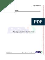 SNI 0068-2013 Pipa Baja Untuk Konstruksi Umum