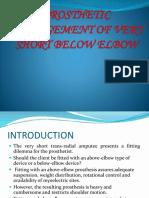 Prosthetic Management of Very Short Below Elbow