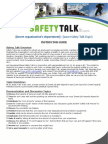 Ski Safety-Talk Template
