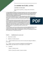 Constitución de JUANCITO EIRL
