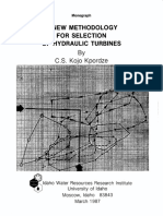 Kpordze C.S.K.-a New Methodology for Selection of Hydraulic Turbines