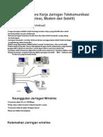 Fungsi Dan Cara Kerja Jaringan Telekomunikasi