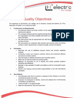 Quality Objectives (1)