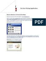 SSL on-Line Pricing Instruction Manual
