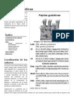 Papilas Gustativas - Wikipedia, La Enciclopedia Libre