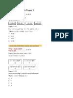 UPSR 2009 Math Paper 1