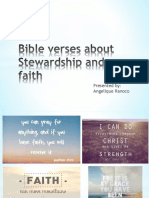 Bible Verses About Stewardship and Faith