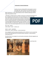 Carbonation in Chemical Weathering by Zak Flesch