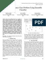 Handling Imbalance Class Problem Using Ensemble Classifier