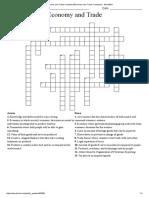 Economy and Trade CrosswordEconomy and Trade Crossword - WordMint Question