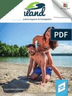 Oberpfälzer Seenland Urlaubsmagazin 2018