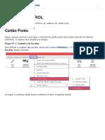 Sistema CONTROL_ Cartão Ponto