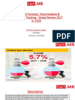 Spa Market Forecast, Trend Analysis & Competition Tracking - Global Review 2017 to 2026