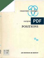 Derrida Jacques Positions 1972