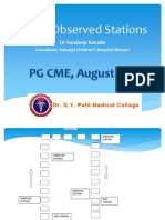 OSCE Pediatrics Observed Stations - Dr.D.Y.patil CME Aug 2012