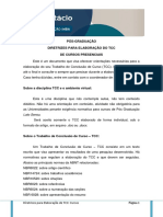 Diretrizes Tcc Cursos Presenciais 2017