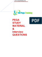 Pega Study Tutorial Interview Questions
