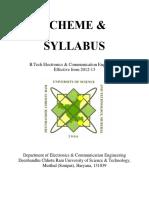 B.tech . Syllabus Oct 2016