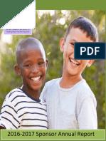 st aloysius sponsor annual report 2016-2017