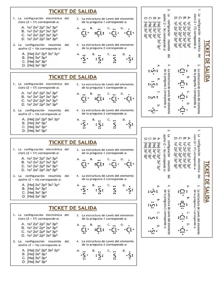 Clase 1 Ticket De Salida