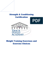 S&CC 13 Weight Training Exercises and Exercise Choices