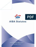 New Version of the 2014 AIBA Statutes(1)