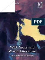 W. B. Yeats and World Literature the Subject of Poetry